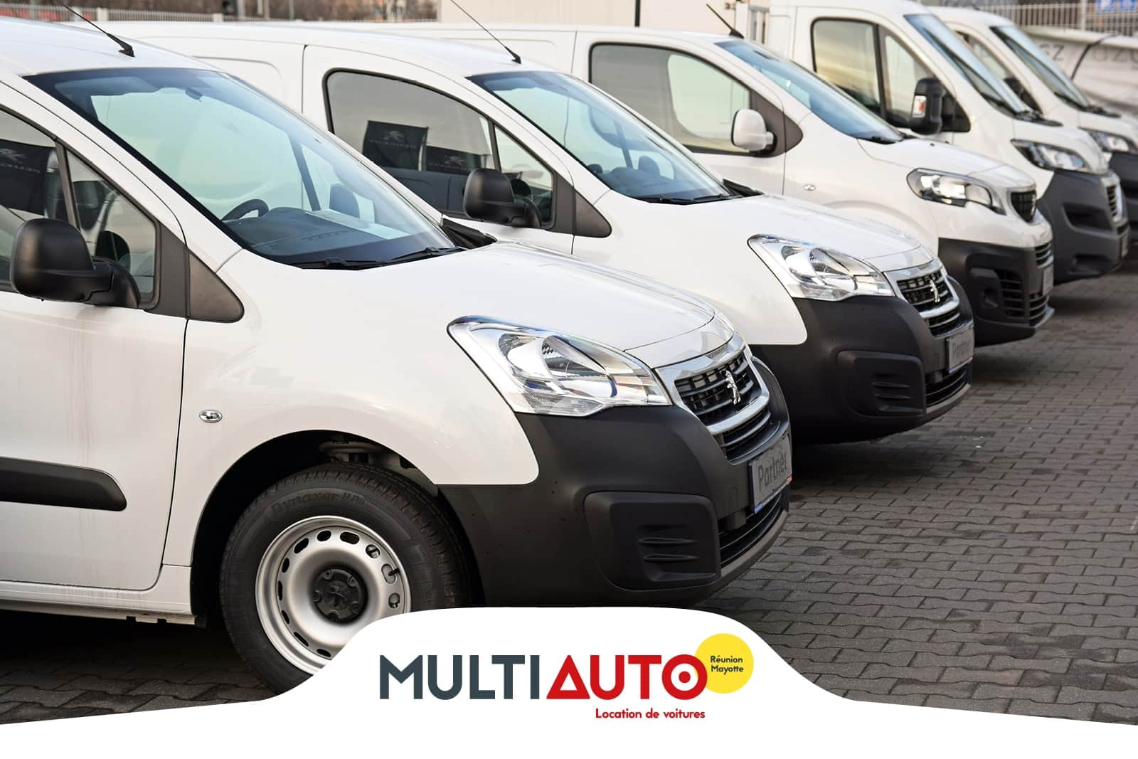 Several utility vehicles for rental from MultiAuto Réunion